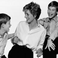 Princess Diana, Prince Harry & Prince William 1994